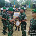 Sembilan Prajurit Satgas Pamtas Terima Penghargaan dari Danrem 091/ASN