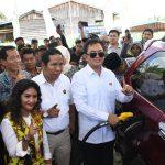 Kementerian ESDM Resmikan Titik ke-58 dan 59 BBM Satu Harga di Sei Menggaris