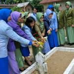 HUT Dharma Pertiwi: Istri Prajurit Tiga Angkatan Ziarah TMP Tarakan