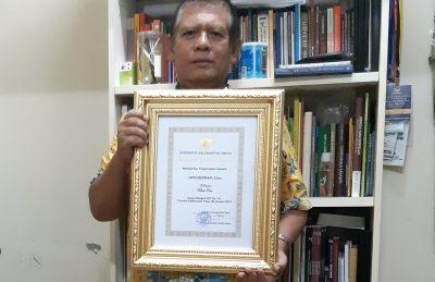 Intoniswan, Penerima Penghargaan Tokoh Pers Kaltim 2018