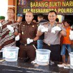 Kapolres Nunukan Musnahkan Sabu-sabu 2,870  Kilogram