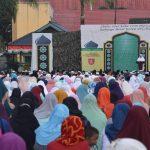 Sholat Idul Adha di Korem 091/ASN, Sembelih 10 Hewan Korban