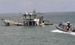 Dua Kapal Ikan Malaysia Ditenggelamkan di Tarakan