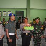 HUT TNI KE-73, Tengah Malam Kapolresta Samarinda ke Makorem 091/ASN