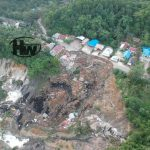 Empat Rumah Warga Ikut Amblas Bersamaan Putusnya Jalan Sangasanga-Muara Jawa