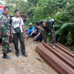 Satgas Pamtas RI-Malaysia Amankan Kayu Ilegal dari Hutan Lindung Nunukan