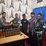 Penyelundup Miras Ditangkap Satgas Pamtas RI-Malaysia