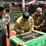 KSAD Resmi Menutup Kegiatan TMMD Ke-103 di Desa Melintang