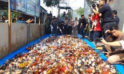 BC Nunukan Musnahkan Miras dan Rokok Tanpa Cukai