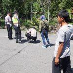 Polisi Olah TKP Laka Lalin Melibatkan Pelajar SMK Negeri Nunukan