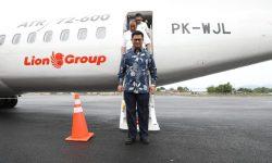 Gubernur Kaltara Antar Wings Air Mendarat di Bandara Nunukan