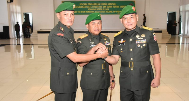 Pangdam VI/Mlw Pimpin Sertijab Danrem 091/ASN dan Tekankan Netralitas TNI