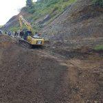 Jalan Lingkar Pulau Sebatik yang Longsor Mulai Diperbaiki