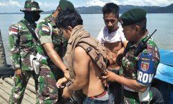 Satgas Pamtas-Polda Kaltara Gagalkan Penyelundupan 1 Kilogram Sabu dari Dua WN Filipina