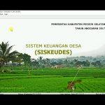 Siskeudes, Aplikasi Perangkat Desa Kelola Keuangan Desa