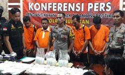 Polres Nunukan Amankan 8 Kilogram Sabu dari 4 orang Tersangka