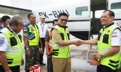 Irianto Lambrie Lepas PenerbanganPerdana Bersubsidi dari Tarakan