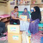 Kapolres Nunukan Antarkan Sembako ke Nenek 72 Tahun