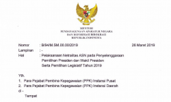 SE Menteri PANRB: ASN Wajib Netral pada Pilpres dan Pileg 2019
