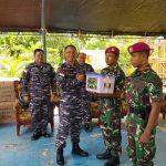 Danguspurla Koarmada II Sambangi Pos Marinir di Sebatik, Sampaikan Pesan Panglima TNI