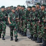 Pangdam Mulawarman Lepas 450 Prajurit Yonif Raider Kostrad Jaga Perbatasan RI-Malaysia