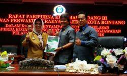 Wali Kota Bontang Sampaikan Nota Pertanggungjawaban Anggaran Tahun 2018