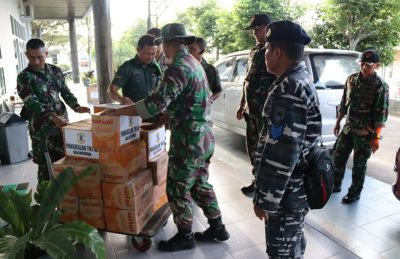 Dikomando Dandim, TNI Sukseskan Pendistribusian Bantuan Korban Banjir