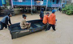 Hujan Deras Sampai Pagi, 40 Rumah Terendam Banjir Hingga 1,2 meter