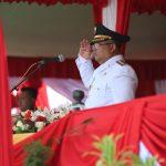 Upacara HUT ke-74 RI Berjalan Khidmat, Merah Putih Berkibar di Halaman Kantor Bupati