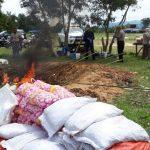 Balai Karantina Nunukan Musnahkan Daging dan Tumbuhan Asal Malaysia