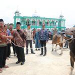 Gubernur Serahkan Dua Ekor Sapi Kurban di Masjid Muhajirin
