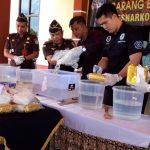 Polres Nunukan Larutkan20,042 Kg Shabu Milik Emi Sulastriani