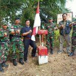 Patok Batas Baru Indonesia dan Malaysia Dibangun di Aji Kuning
