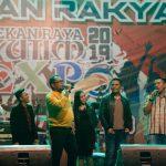Wabup Kasmidi Bulang Unjuk Suara di Panggung Hiburan Rakyat