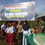 TNI Ikut Peduli Gizi Anak di Perbatasan Malaysia