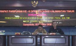 DPRD Kaltim Sahkan Revisi Jadwal Kegiatan Masa Sidang I