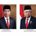 Inilah Foto Resmi Presiden dan Wakil Presiden RI Periode 2019-2024