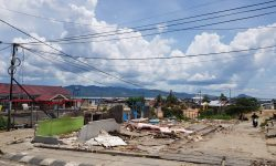 Perluas Areal Parkir, PT Pelindo Nunukan Bongkar Kios Pedagang