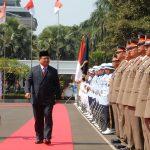 Prabowo Disambut dengan Upacara Jajar Kehormatan