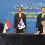 Indonesia dan Korsel Tanda TanganiTiga Kerja Sama