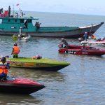 Balap Speedboat di Tarakan Peringati HUT ke-74 Armada
