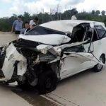 Avanza Remuk di Toll Balikpapan-Samarinda, Sopir Luka-luka di Wajah