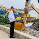 Presiden Jokowi Mendadak Tinjau Waduk Pluit