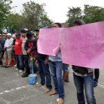 Protes e-Parkir di Pelabuhan Tengkayu, Ojek Pangkalan & Sopir Rental Mogok Operasi
