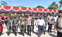 Panglima TNI – Kapolri Terima Lahan Pembangunan Kogabwilhan III Dari Tokoh Adat Suku Kamoro