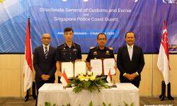 Cegah Penyelundupan, DJBC dan Singapore Police Coast Guard Jaga Perbatasan Laut