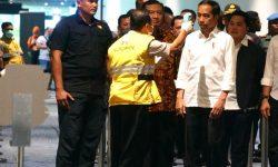 Presiden Jokowi Cek Proses Sterilisasi Terminal 3 Bandara Soekarno-Hatta