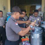 Cegah Penularan Corona, Polres Nunukan Bagikan Makanan Bergizi ke Personil