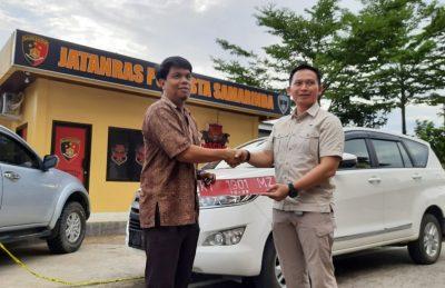 Sempat Hilang Dicuri Staf, Polisi Kembalikan Mobil Dinas Ketua KPU Samarinda