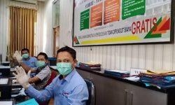 Warga yang Berurusan di Disdukcapil Kutim Diminta Memakai Masker